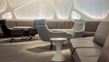 Modern futuristic lounge